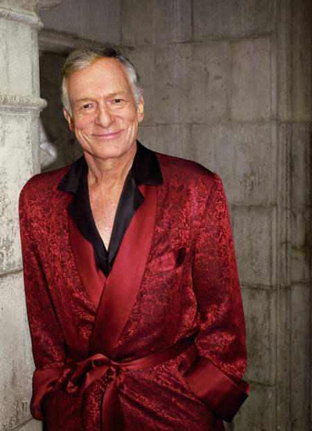 Hef With Red Robe outside