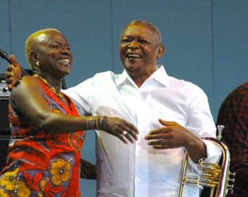 Anglelique Kidjo and Hugh Masekela