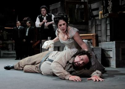 Sondra Radvanovsky as Tosca and Lado Ataneli as Scarpio