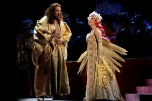 Placido Domingo as TK and Nino MachaidzeTK aS Thais