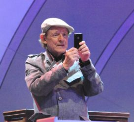 Jack Bruce taking a photo of the .audience at the  Playboy Jazz Festival