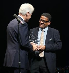 President Bill Clinton and Herbie Hancock