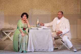 Nancy Fabiola Herrera as Paula and Gordon Hawkins as Alvaro
