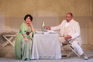 Nancy Fabiola Herrera as Paula and Gordon Hawkins as Alvaro
