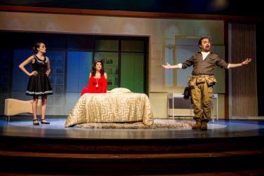 Maria Elena Altany as Susana, Greta Baldwin as Roxanne Conti and Jose Adan Perez as Figaro