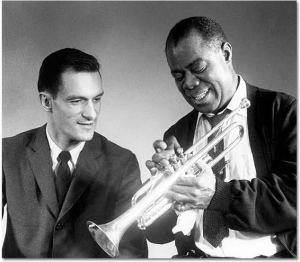 Hugh Hefner and Louis Armstrong