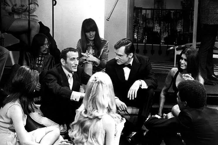 Hugh Hefner, Tony Bennett and friends