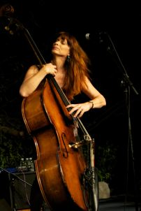 Jennifer Leitham plays bass
